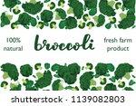 vector illustration of broccoli ... | Shutterstock .eps vector #1139082803