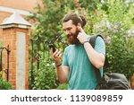 cheerful happy bearded man...   Shutterstock . vector #1139089859