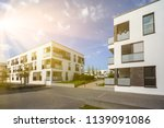 modern residential area with... | Shutterstock . vector #1139091086