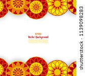 background with ethnic circle... | Shutterstock .eps vector #1139098283