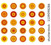 vintage circle ethnic elements. ... | Shutterstock .eps vector #1139098286