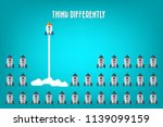 think differently   being... | Shutterstock .eps vector #1139099159