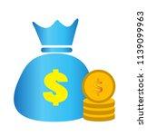 concept of money. stacks of... | Shutterstock .eps vector #1139099963