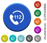 emergency call 112 round color... | Shutterstock .eps vector #1139104886