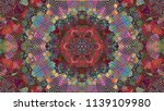 geometric design  mosaic of a... | Shutterstock .eps vector #1139109980