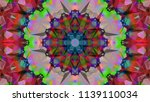 geometric design  mosaic of a... | Shutterstock .eps vector #1139110034
