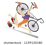 cyclist falling down from the... | Shutterstock .eps vector #1139120180