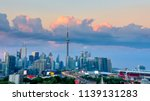 aerial view of toronto city... | Shutterstock . vector #1139131283