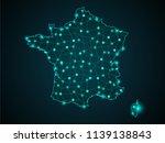 wire frame 3d mesh polygonal... | Shutterstock .eps vector #1139138843