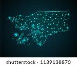 wire frame 3d mesh polygonal... | Shutterstock .eps vector #1139138870