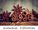 Cinnamon And Starry Anise On A...