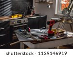 kitchen renovation mess with... | Shutterstock . vector #1139146919