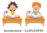 vector illustration of children ... | Shutterstock .eps vector #1139153990