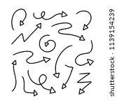 set of hand drawn vector arrows ... | Shutterstock .eps vector #1139154239