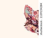 wild beautiful fox head hand... | Shutterstock .eps vector #1139154284