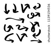 set of hand drawn vector arrows ... | Shutterstock .eps vector #1139154536