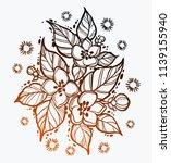 beautiful appel flovers in... | Shutterstock .eps vector #1139155940