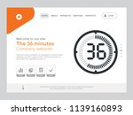 quality one page the 36 minutes ... | Shutterstock .eps vector #1139160893