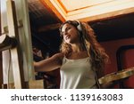 indoor shot of professional... | Shutterstock . vector #1139163083