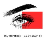 abstract fashion illustration... | Shutterstock .eps vector #1139163464