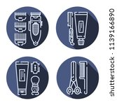 set of barber tools. flat icons. | Shutterstock .eps vector #1139166890