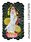 guan yin women god of buddhism... | Shutterstock .eps vector #1139167898