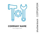 tools company logo design... | Shutterstock .eps vector #1139169104
