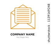 email company logo design... | Shutterstock .eps vector #1139169248