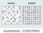 vector sudoku with answer 152.... | Shutterstock .eps vector #1139170943