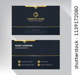 business model name card luxury ... | Shutterstock .eps vector #1139172080