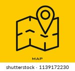 map icon signs | Shutterstock .eps vector #1139172230