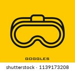 goggles icon signs | Shutterstock .eps vector #1139173208