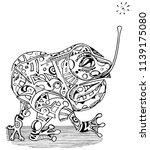 abstract illustration of frog... | Shutterstock .eps vector #1139175080