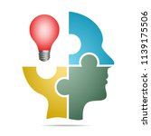 the human head composed of... | Shutterstock .eps vector #1139175506