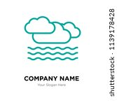 clouds company logo design... | Shutterstock .eps vector #1139178428