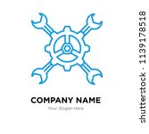 tools company logo design... | Shutterstock .eps vector #1139178518