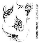tribal tattoo set   Shutterstock .eps vector #113918410