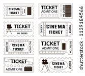 old cinema tickets for cinema | Shutterstock .eps vector #1139184566