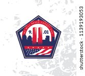 patriot day vector poster with... | Shutterstock .eps vector #1139193053