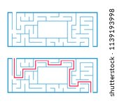 rectangular labyrinth  maze. an ... | Shutterstock .eps vector #1139193998