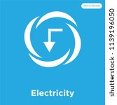electricity vector icon... | Shutterstock .eps vector #1139196050