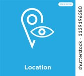 location vector icon isolated... | Shutterstock .eps vector #1139196380