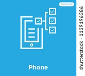 phone vector icon isolated on... | Shutterstock .eps vector #1139196386