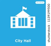 city hall vector icon isolated... | Shutterstock .eps vector #1139199500