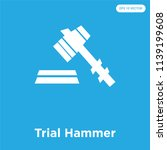 trial hammer vector icon... | Shutterstock .eps vector #1139199608
