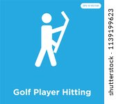 golf player hitting vector icon ... | Shutterstock .eps vector #1139199623