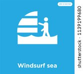 windsurf sea vector icon... | Shutterstock .eps vector #1139199680