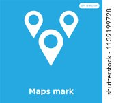 maps mark vector icon isolated... | Shutterstock .eps vector #1139199728