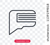 speech bubble vector icon... | Shutterstock .eps vector #1139199818