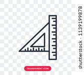 ruler vector icon isolated on... | Shutterstock .eps vector #1139199878